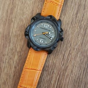 Morphic leather watch